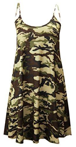 CELEB LOOK -  Vestito  - Donna Army Print