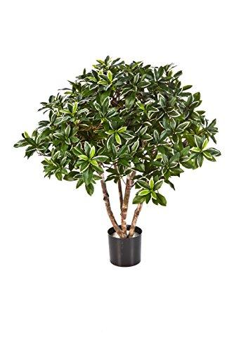 artplants Japanischer Deko-Spindelstrauch Riku, 1386 Blätter, grün, 75 cm – asiatische Kunstpflanze/Deko Baum