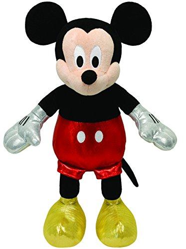 TY 90169 - Disney - Mickey Glitter mit Sound, glitzernde Kleidung, 30 cm (Mickey Beanie Ty)