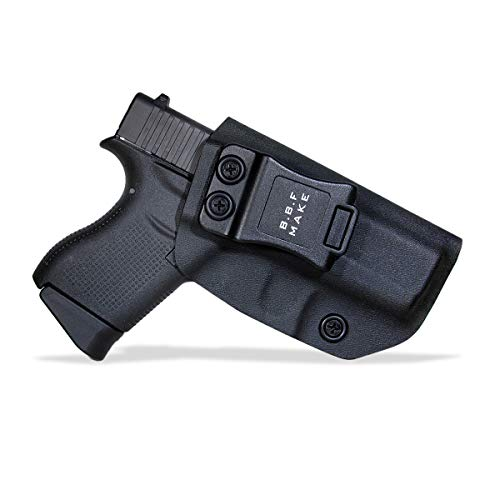 BBF Make IWB Tactical KYDEX Gun Holster Custom Fits: Glock 43 43X Pistol  Case Inside Concealed Carry Holster Guns Accessories Etuis (Black, Right  Hand