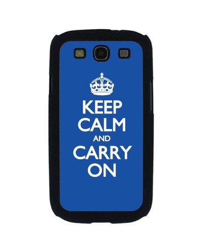 Keep calm and carry on Statement Schutzhülle für Samsung Galaxy S3, Blau - Polycarbonate Carry On
