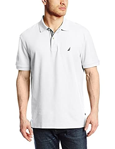 Nautica Solid Anchor Deck Classic Fit, Polo Homme, Bright White, XXL
