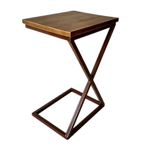 Klapptisch YANFEI, Mini Couchtisch Leicht beweglicher Massivholztisch, 40 * 32 * 65cm (Grau-holz-kaffee-tisch)