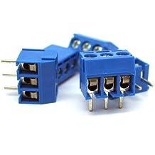 SODIAL(R) - Terminale del connettore di blocco PCB a vite , 5 pin x 3 poli, 300 V, 16 A