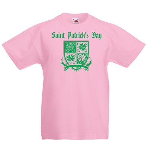 Kinder T-Shirt Saint Patrick's day Shamrock symbol - Irish party time (3-4 years Pink (Kostüm Soda Automaten)