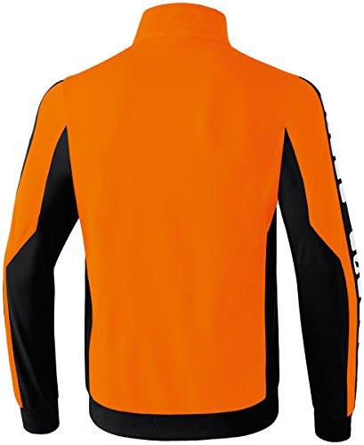 CLASSIC 5-CUBES Polyesterjacke Orange/Schwarz/Weiß