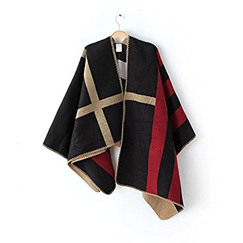 XYZHF**The Autumn Winter Female acrylic cloak shawl scarf thick warm jacket of the forklift truck and large