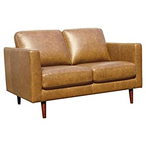 Amazon Marke – Rivet Revolve Moderner Loveseat, B 142 cm, Denim