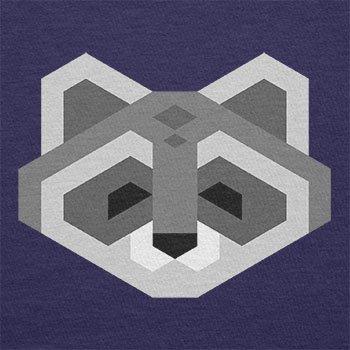 TEXLAB - Simple Raccoon - Herren Langarm T-Shirt Navy