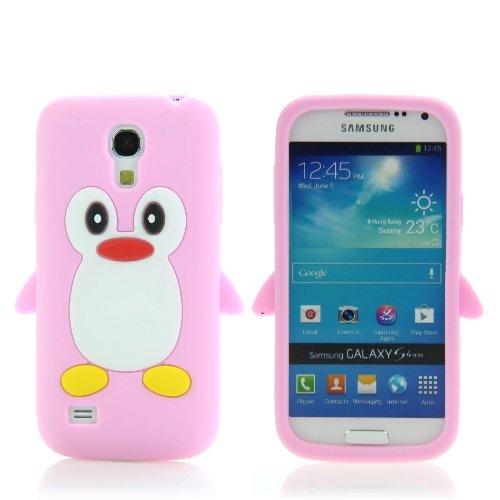 Handy Lux® Schutz Hülle Silikon Case Cover Etui Pinguin für Samsung Galaxy ACE Duos S6802 - Rosa -