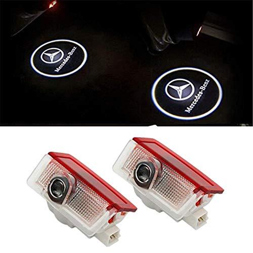 LIKECAR 2 pcs lumi/ères de Porte projecteur de Voiture Car LED Bienvenue Logo Voiture fant/ôme Ombre Bienvenue lumi/ère W203 blue2