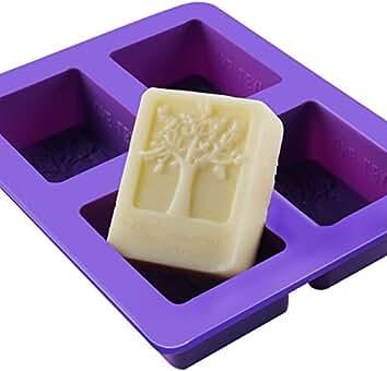 Outflower 4 Cuadrícula Cavidad Rectangular DIY Jabón Mold Jelly Hielo Para Tarta Chocolate Moldes de Silicona