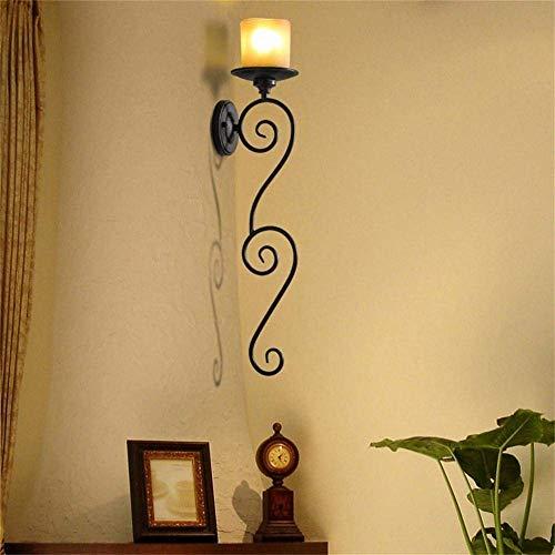 GSZHY Wand Lampe Kerze Eisen europäischen Retro Land Retro Thema Gang Korridor Bar-Dekoration Beleuchtung