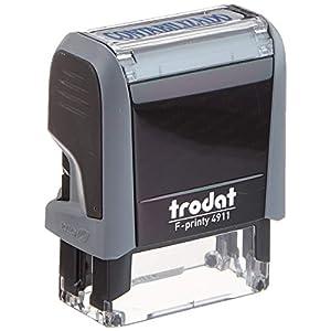 Trodat-Timbro con stampa Standard Text. stampa Dimensioni: 38 x 14 mm.