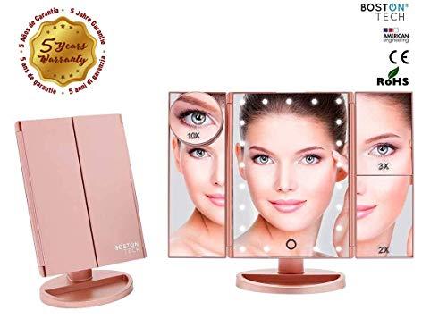 Boston Tech BE-104 - Espejo Maquillaje Luz Ajustable