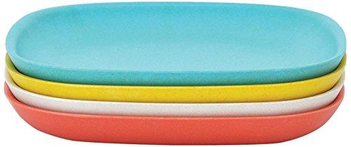 BIOBU-gusto-by-eKOBO-34635-assiettes–salade-2-persimmonblancbleu-lagonjaune-citron