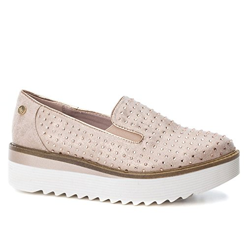 XTI 47772, Sneaker Infilare Donna Rosa (Nude)