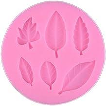 Wady Natural árbol hojas candy fondant molde de silicona azúcar Craft Molde de tarta ...