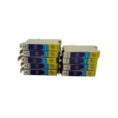 10 Druckerpatronen Tinte Epson Stylus C64 C66 C84 CX3600 CX3650 ersetzen T0441...