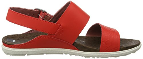 Merrell Around Town Backstrap Print, Sandales Bout Ouvert Femme Rouge (Fiery Red)