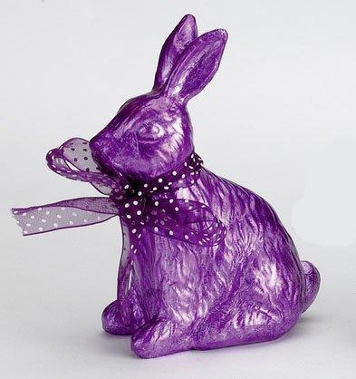 Die spiegelburg, dolce coniglietto pasquale - arredamento, decorazione, oggettistica - colore: viola - materiale: resina sintetica