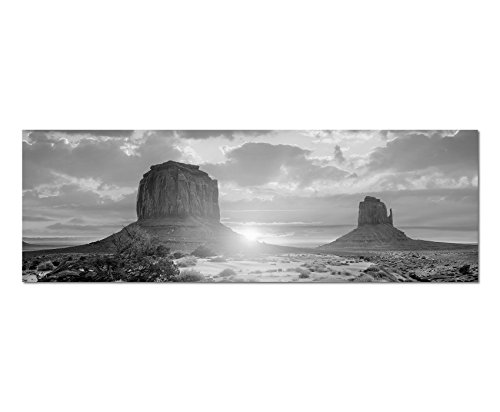 come-panorama-nero-bianco-foto-su-tela-150-x-50-cm-usa-monument-valley-tramonto-natura