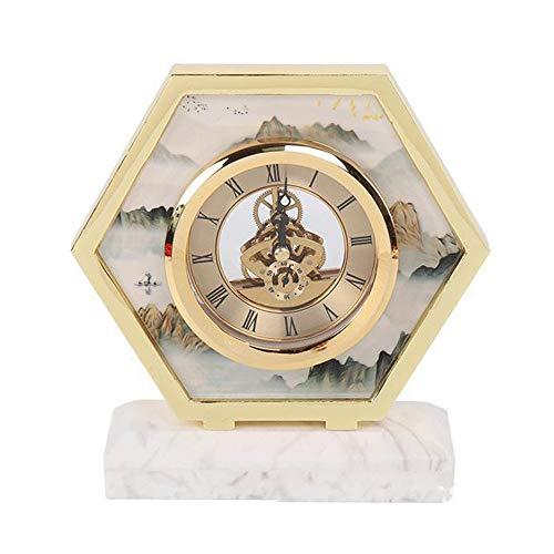 Gongdi orologio da tavolo orologi da mensola moderni semplici e creativi esagonali in metallo metallo decorazione orologio da tavolo 18 * 19 * 6