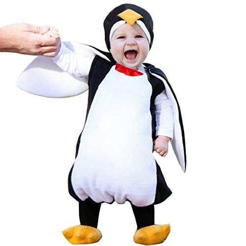 Vicgrey ❤ costume per travestimento da pinguino, bambini pagliaccetto caldo,ragazze ragazzi pagliaccetto felpa con cappuccio addensare snowsuit inverno infantile romper+manicotto del piede