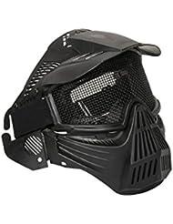 ALEKO pbm207bk anti niebla Paintball máscara con doble elástico correa táctica máscara de protección, Negro