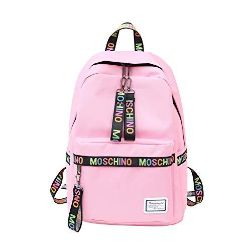 GDMXYD Zaino, Laptop Portatile Backpack con Porta Casual ImpermeabileCanvas Multiuso di Moda Casual, Rosa