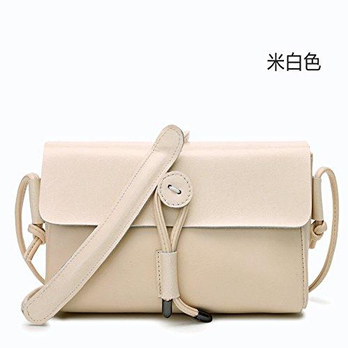 Mefly Bagagli Di Borsette In Pelle Tracolla Messenger Bag Naturals White