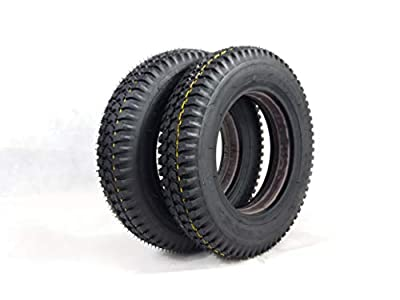 Pair of 3.00-8 Black Solid Mobility Scooter Tyres (Good Care) 300 x 8#NEW