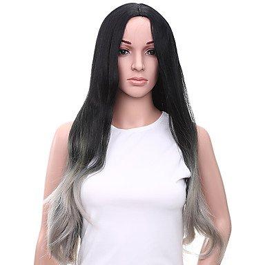 HJL-Chaleur r¨¦sistant Cheap Fake cheveux perruque 28 pouces Long Wave perruques synth¨¦tiques pour les femmes