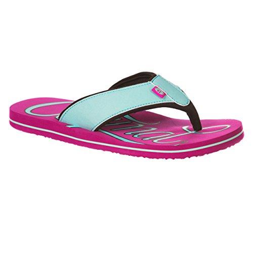 Animal Swish Logo Women's Flip Flop - Indian Berry Pink-UK 6