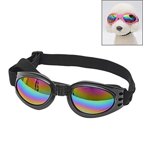 Happy-L Heimtierbedarf, Hundefaltbare, polarisierte Anti-Fog-Sonnenbrille für Hunde mit einem Gewicht von 6 kg oder mehr (Farbe : Schwarz)