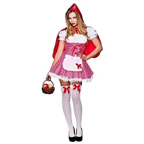 Sexy Rotkäppchen Verkleidung für Frauen Karneval Fasching Halloween Kostüm S (Halloween Kostüme Sf)