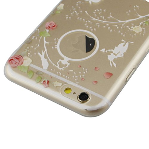 iPhone 6S Hülle,iPhone 6 Hülle,iPhone 6S TPU Case,iPhone 6S Silicone Cover,EMAXELER iPhone 6S /6 4.7 Zoll Hülle TPU Case Schutzhülle Silikon Clear Hülle Case Cover,Farbig Blume Schmetterling Mädchen E Fairy Girl TPU 8