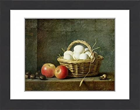 Framed Print of The Basket of Eggs, 1788 (oil on canvas)