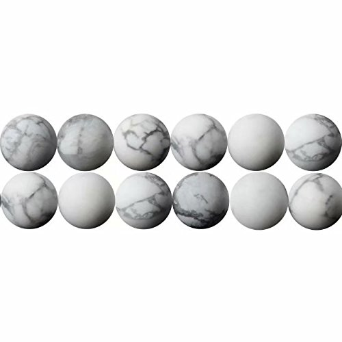 Natürliche Weiß Howlith Edelsteine Perlen 8mm für Armbänder Auffädeln 38cm Strang Approx 48 Stück