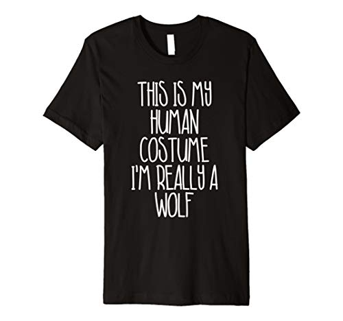 (Cute einfach Wolf Halloween-Kostüm Shirt für Mädchen Jungen Herren)