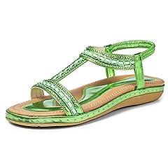 684490121b Women Ladies Diamante Open Toe Flat Casual Summer Sandals Beach Shoe ...
