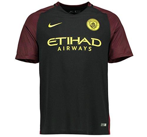 Nike Manchester City YTH SS AW Stadium JSY - Camiseta de Manga Corta para Hombre, Color Negro, Talla S