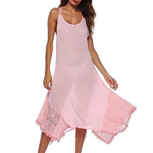 63fadecca8bd DoraMe Vestito Donna Elegante Asimmetrico Vestito Donne Senza Schienale  Sciolto Lungo Abito Vestito Donna Estate Maxi