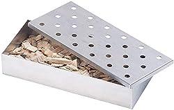 Rosenstein & Söhne Smokerbox: Räucherbox aus rostfreiem Edelstahl, für Gas- und Holzkohlegrills (Grillzubehör)