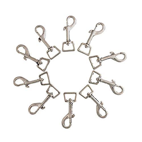 Anjing Karabinerhaken aus vernickeltem Metall mit quadratischen Ösen, ideal für die Verwendung mit Hundeleine und Pferdedecke Beingurten