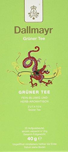 Dallmayr Tee Aufgussbeutel - Grüner Tee, 1er Pack (1 x 40 g)
