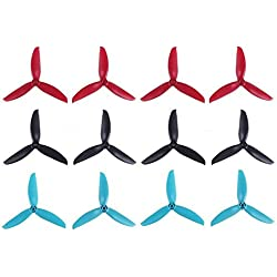 Makerfire 12pcs Gemfan 5049 hélices 3-Blade Props Triblade CW CCW Propeller para 2205-2407 Brushless Motor 210-260MM FPV Drone Racing Quadcopter Frame Kit