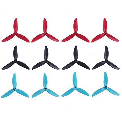 12psc Gemfan 5049 Propellers 3-Blade Props Triblade CW CCW Propeller for 2205-2407 Brushless Motor 210-260MM FPV Drone Racing Quadcopter Frame Kit