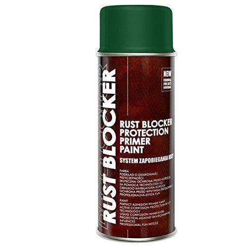 Preisvergleich Produktbild 1 Stück 400 ml Rust Blocker 4in1 Metallschutzlack Rost Stop Lack grün matt RAL 6005 18400