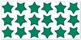 wandfabrik - Fahrradaufkleber 18 Sterne in grün - Wandtattoo geeignet als Dekoration Klebefolie Wandbild Wanddeko Tiere für Wohnzimmer Kinderzimmer Babyzimmer Badezimmer Fliesen Tapete Küche Flur Wohnung und Schlafzimmer für Junge Mädchen Baby Kinder Wandtattoos
